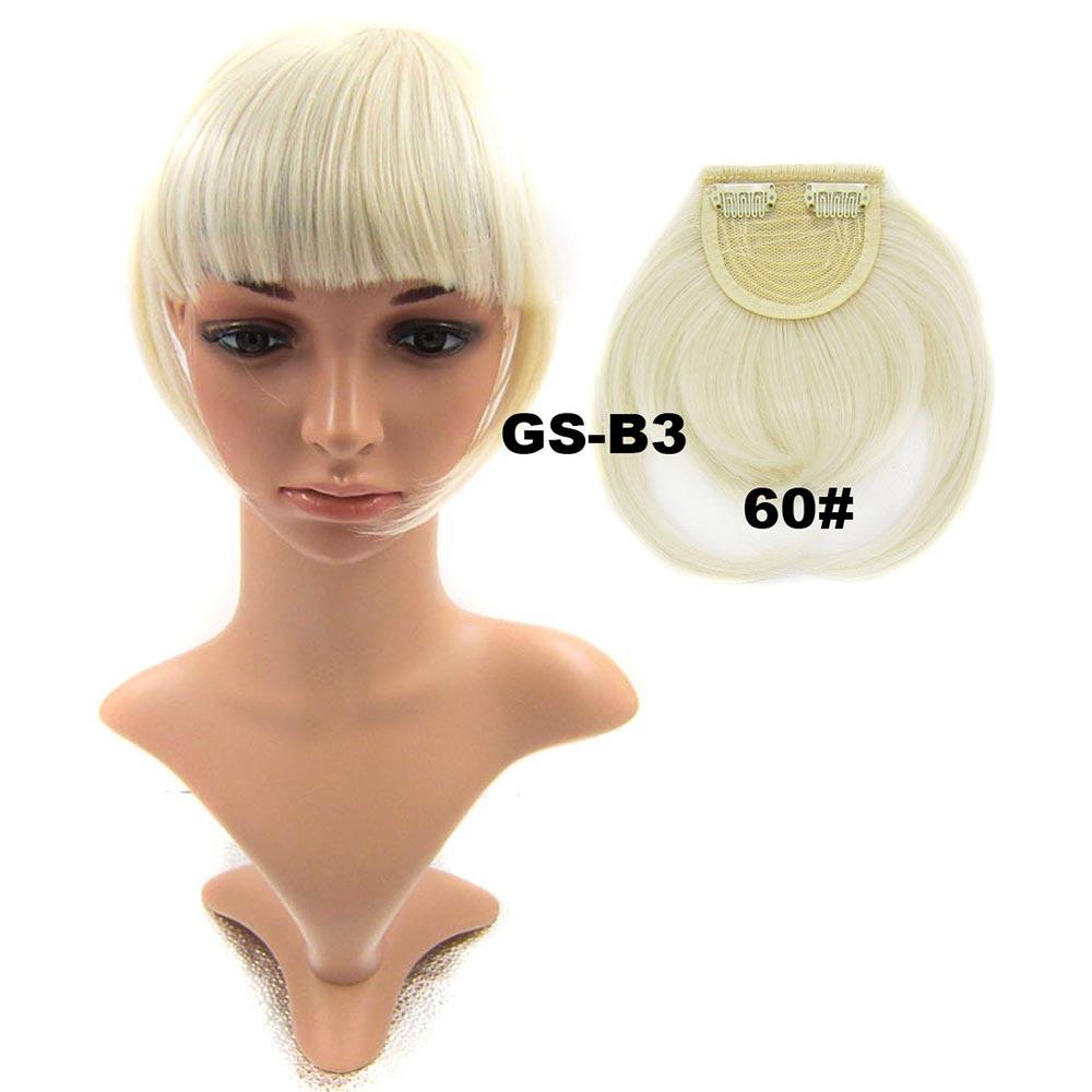 Světové zboží Clip in ofina rovná - výběr odstínů - 60 (ledová blond)