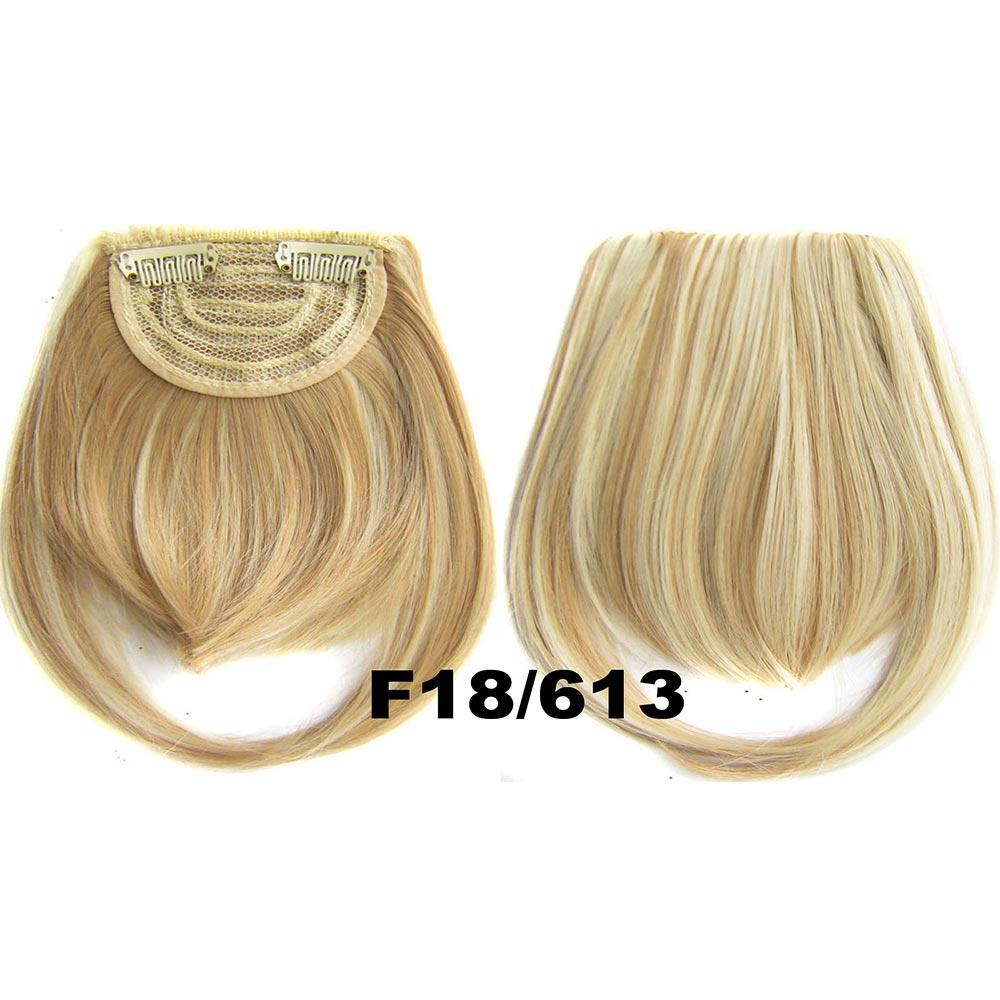 Světové zboží Clip in ofina rovná - F18/613 (melír středně plavé v beach blond)