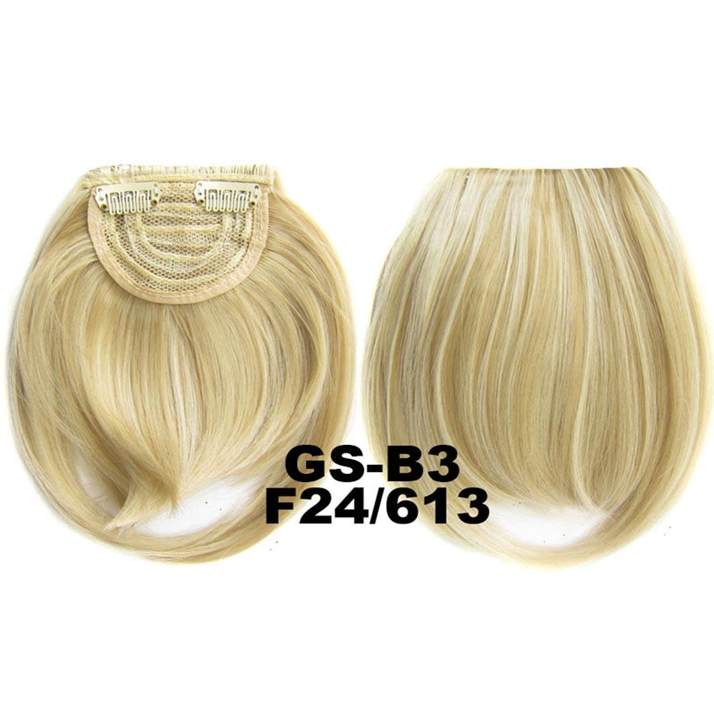 Světové zboží Clip in ofina rovná - F24/613 (melír platinově plavé v beach blond)