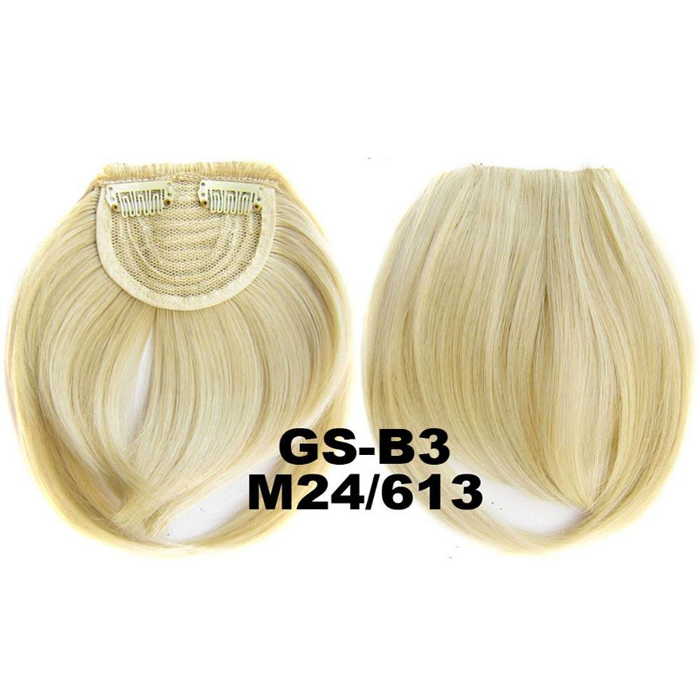 Světové zboží Clip in ofina rovná - M24/613 (mix platinově plavá/beach blond)