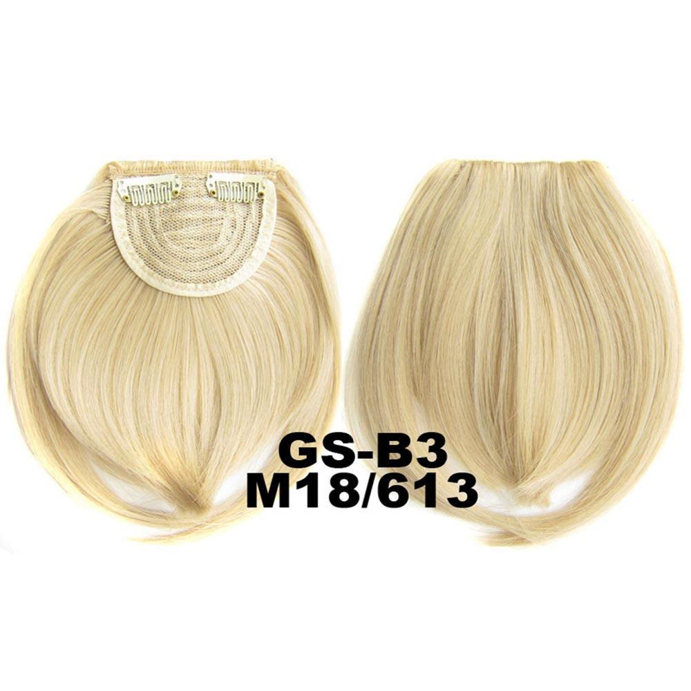 Světové zboží Clip in ofina rovná - M18/613 (mix středně plavá/beach blond)