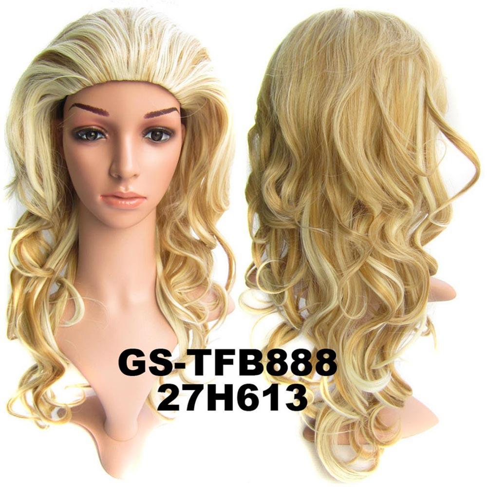 Světové Zboží Poloparuka - 3/4 paruka vlnitá TFB (H27/613 (melír karamelové a beach blond))