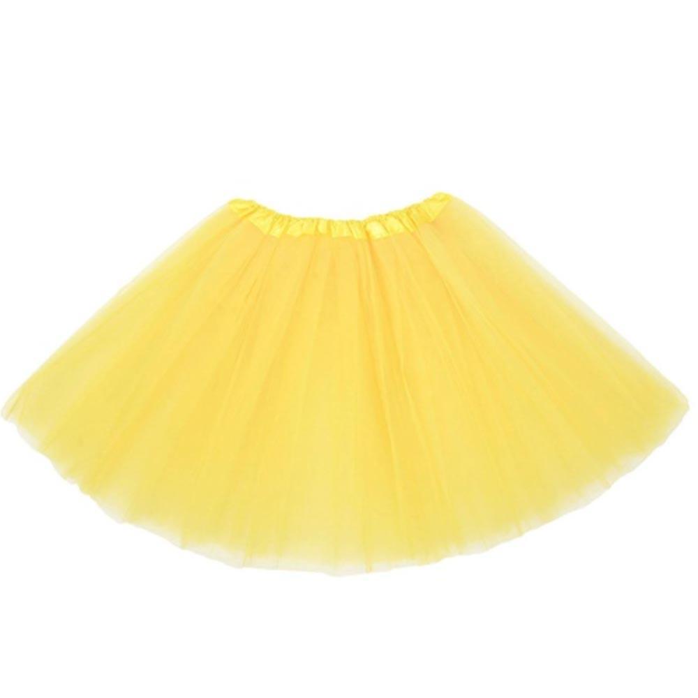 Dámská tylová tutu sukně - žlutá barva