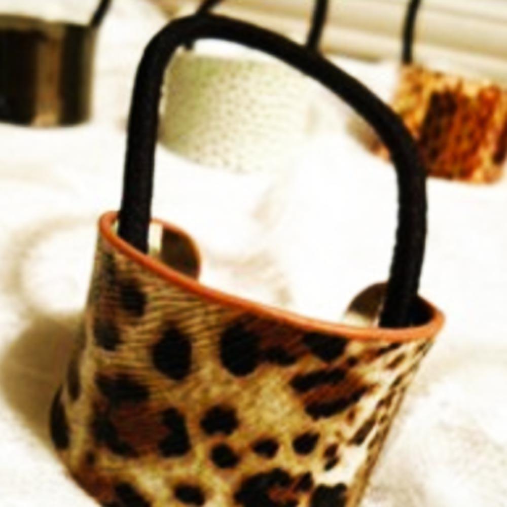 V&V Spona pro tvorbu copu kovová podkova - leopard