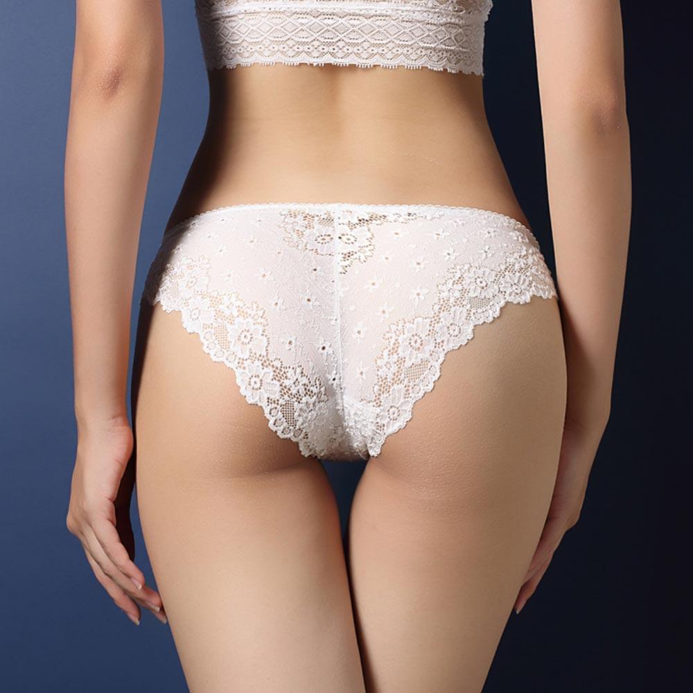 V&V Dámské krajkové kalhotky - Calcinha - bílá barva