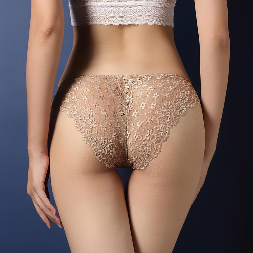 V&V Dámské krajkové kalhotky - Calcinha - tělová barva