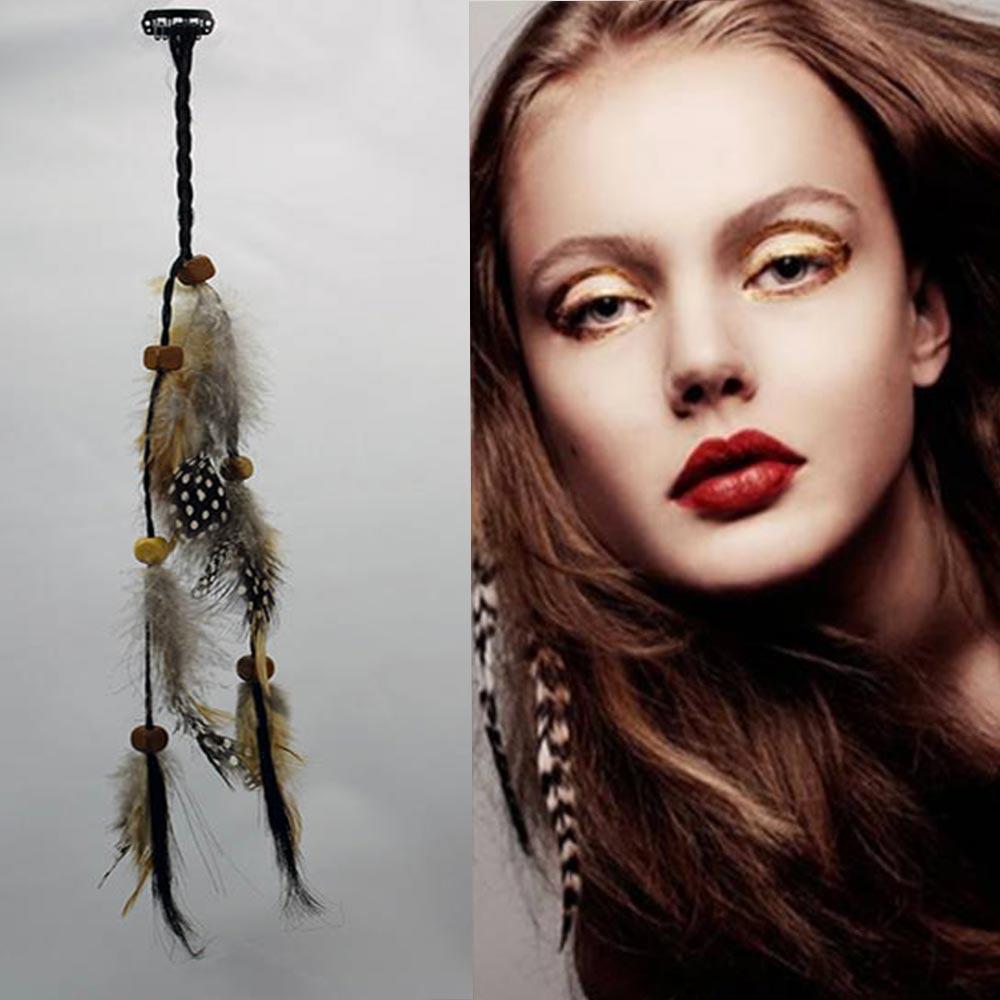 0892e0ba4c2 Prodlužování vlasů a účesy - Pírka do vlasů - indian style