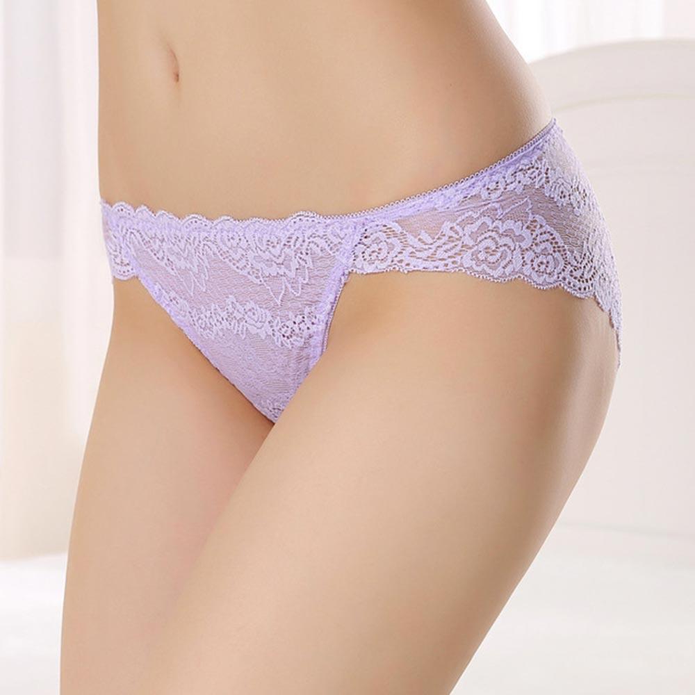 V&V Dámské krajkové kalhotky - Noemi - fialová barva