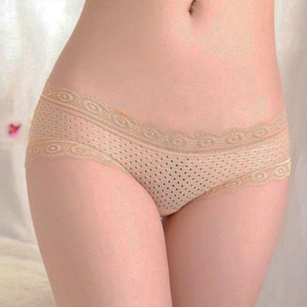 V&V Dámské prodyšné kalhotky s bambusovým vláknem - tělová barva
