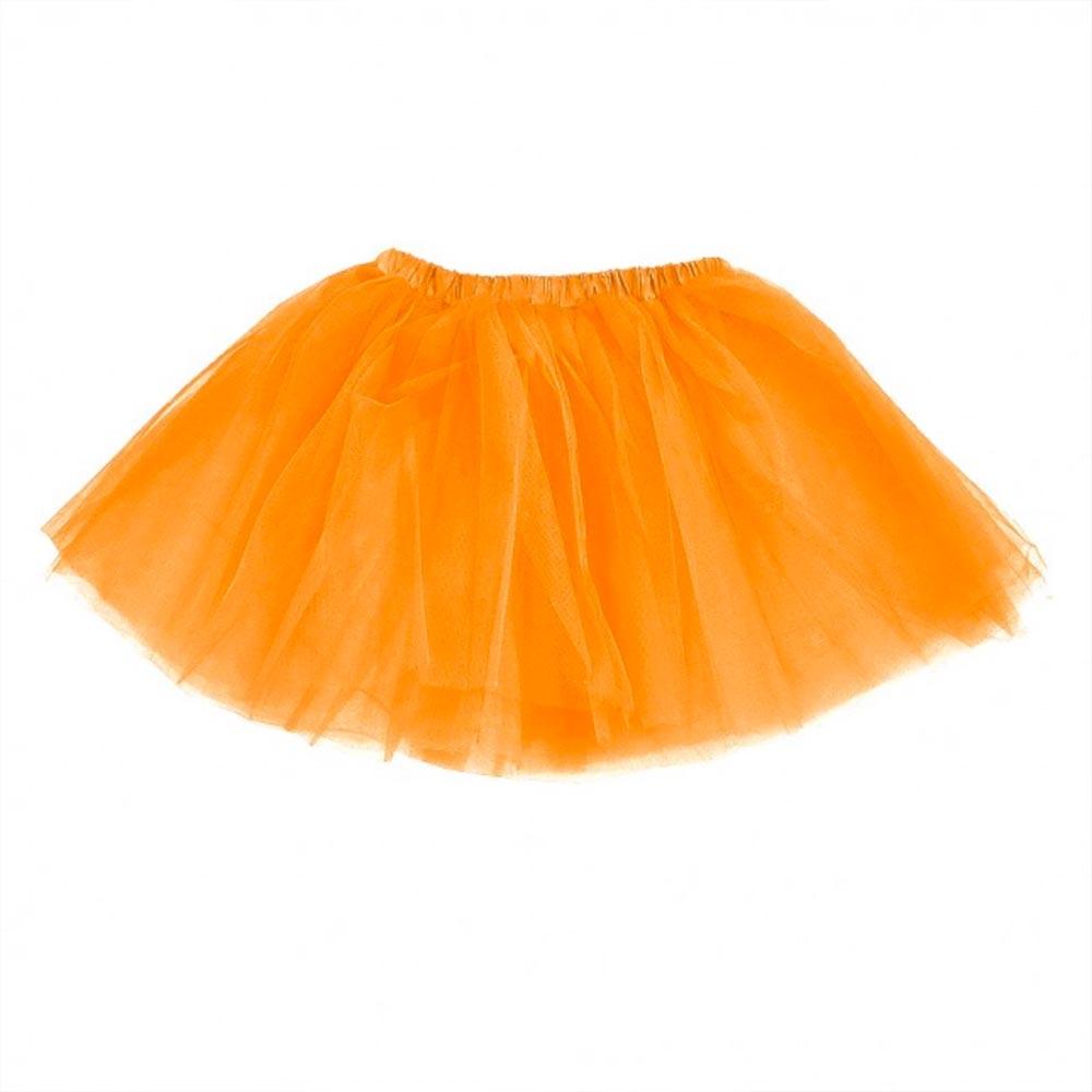 Dámská tylová tutu sukně - oranžová barva