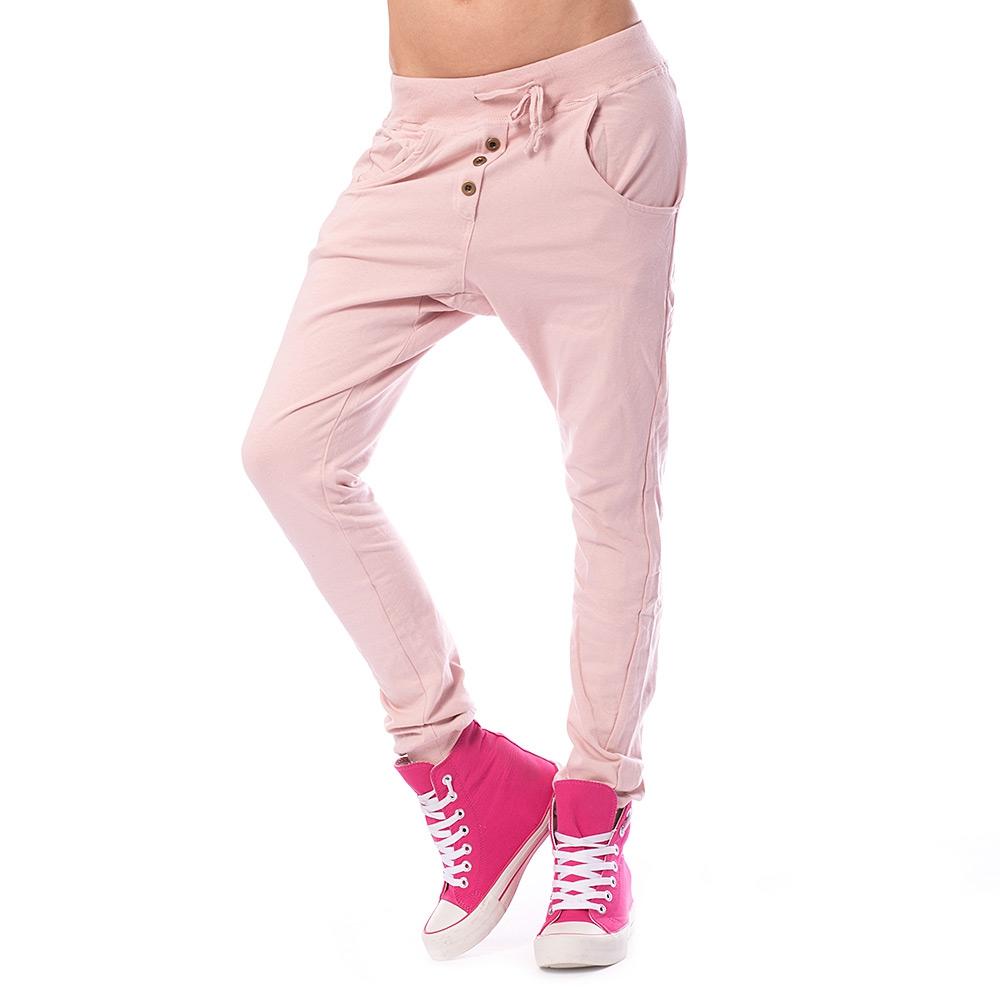 V&V Dámské harémové kalhoty - světle růžové - L / XL