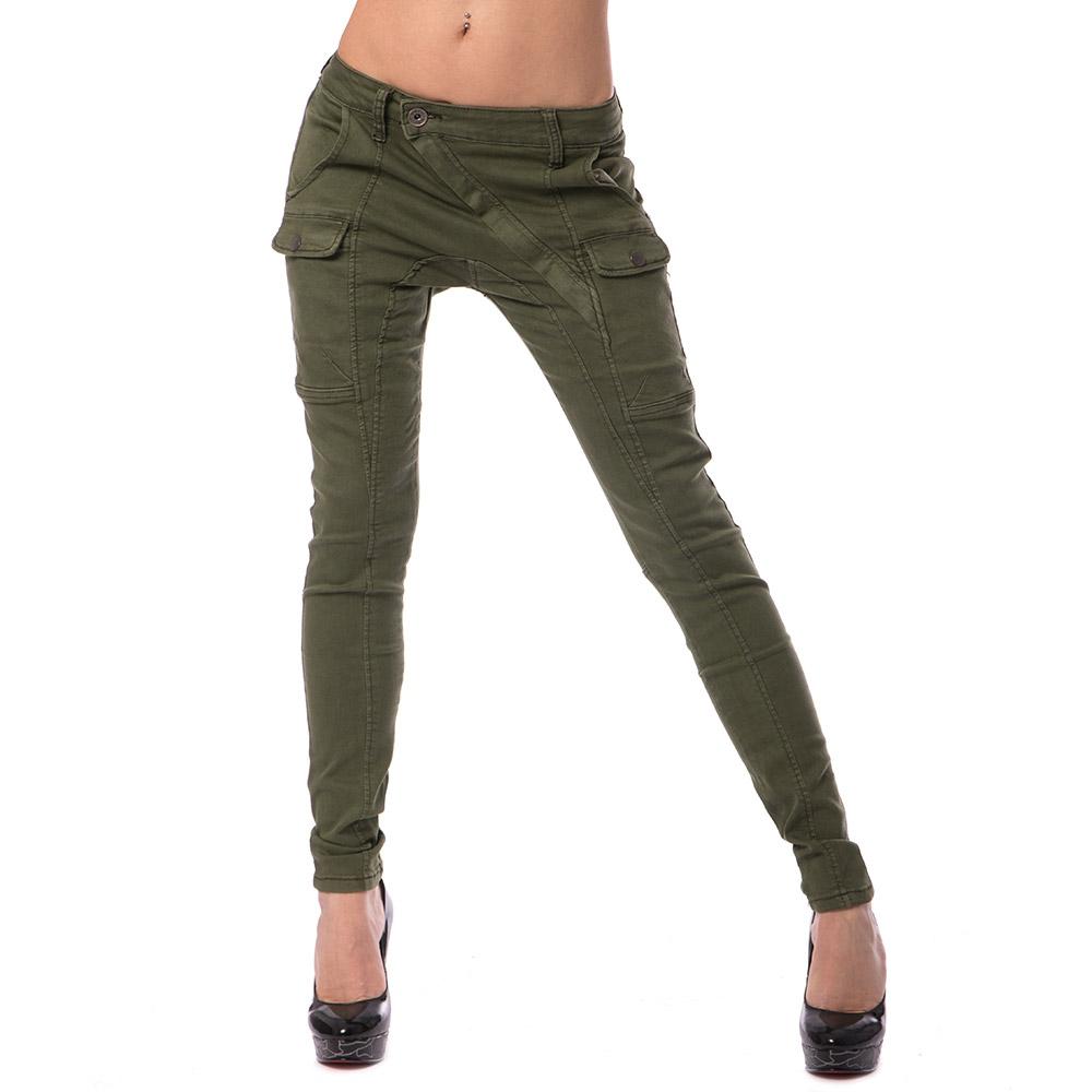 Dámská móda a doplňky - Dámské jeans GOURD - zelené ... 13d4dbfb64