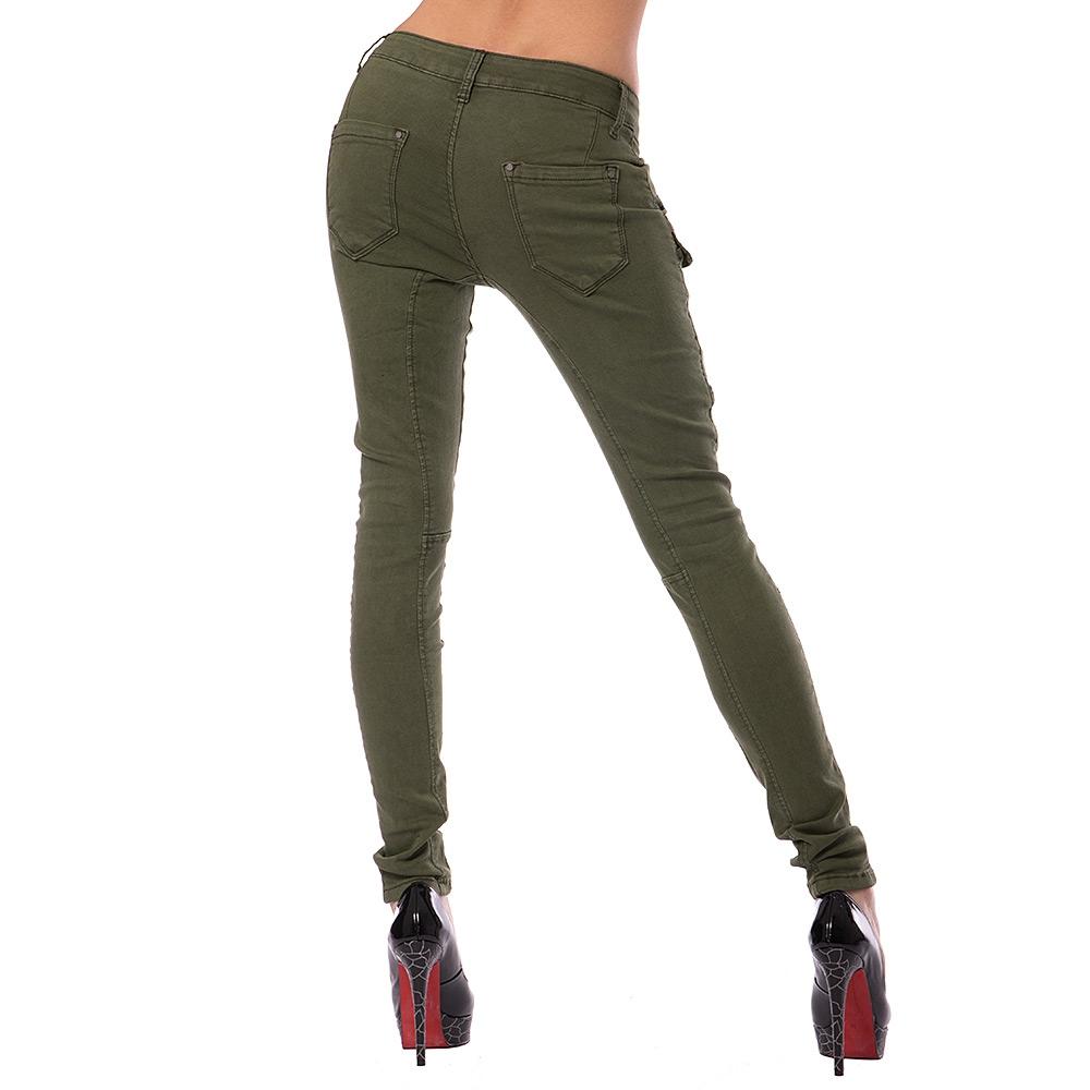 ... Dámská móda a doplňky - Dámské jeans GOURD - zelené c9a0ea7f8b