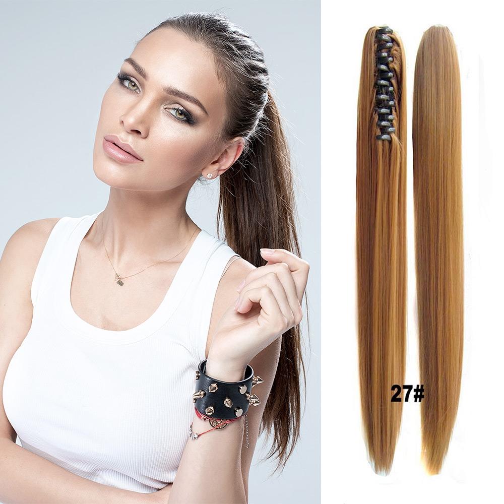 V&V Cop - culík rovný k prodloužení vlasů 55 cm na skřipci - 27 (karamelová)