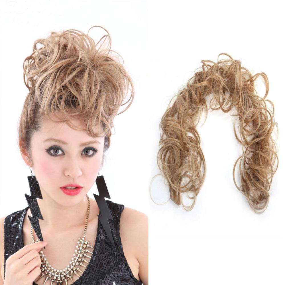 Tvarovatelný pás vlasů k vytvoření účesu, drdolu - F27/613 (melír karamelové v beach blond)