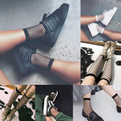 Dámské síťované ponožky