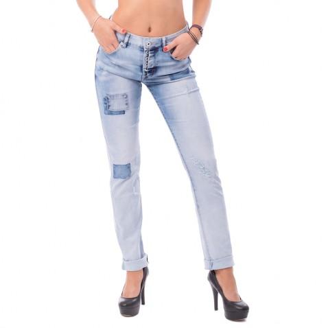 Dámské trhané jeans Boy Friend