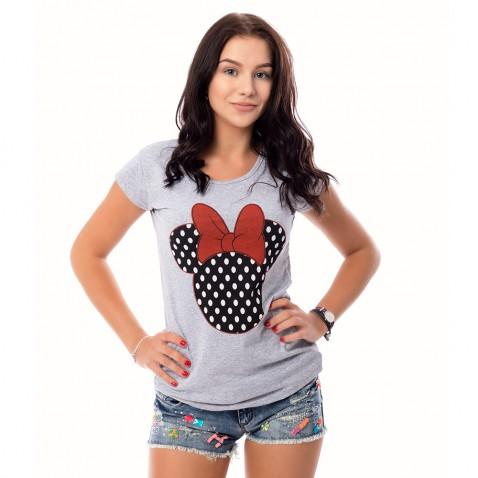 Dámské triko Mickey - šedé
