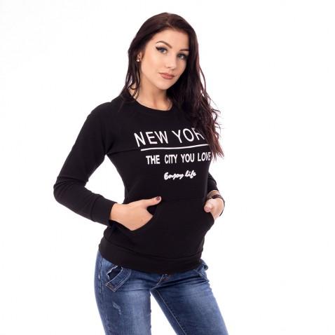 Dámská mikina New York - černá