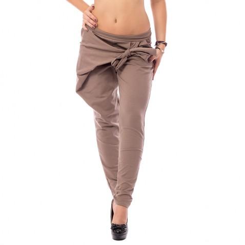 Harémové kalhoty s překladem - hnědé
