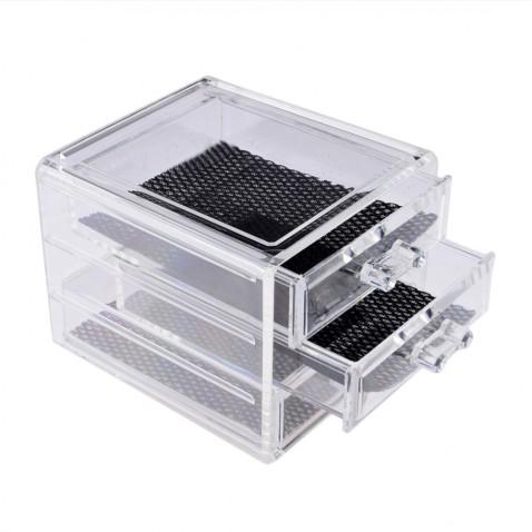 Plastový kosmetický organizér - 3 zásuvky