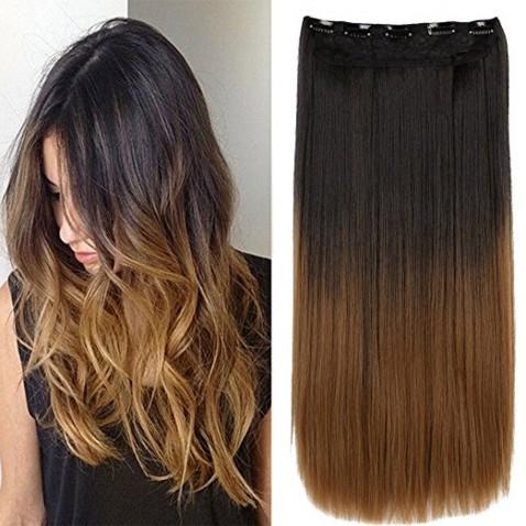 Clip in vlasy - rovný pás - ombre -  odstín 2 T 27