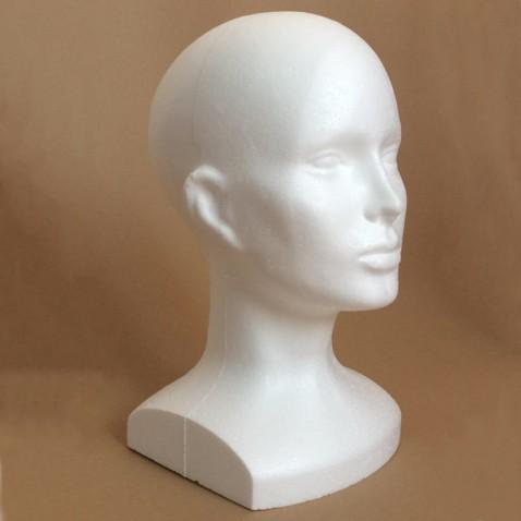 Polystyrenová hlava 32 cm s menším podstavcem