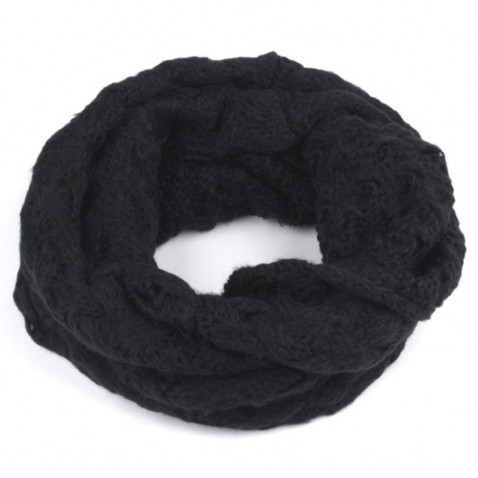 Pletený nákrčník - černá