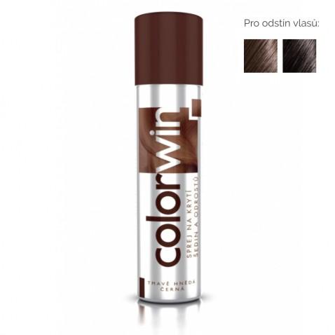 Colorwin Sprej na krytí šedin a odrostů - tmavě hnědá, černá, 75 ml