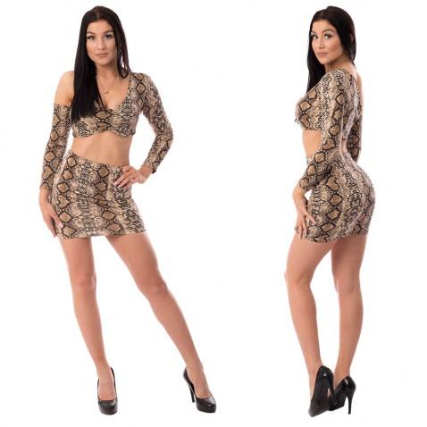 Komplet topu se sukní Snake Girl