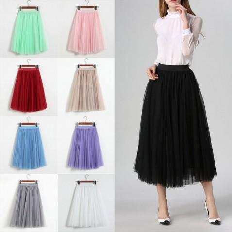 Dámská tylová tutu sukně - dlouhá