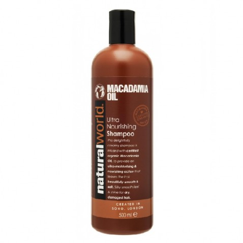 Natural World Macadamia oil vlasový šampon, 500 ml