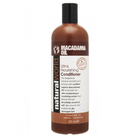 Natural World Macadamia oil vlasový kondicionér, 500 ml