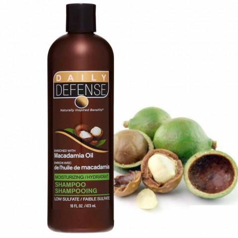 Daily Defence vlasový šampon s makadamiovým olejem, 473 ml