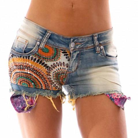 Dámské jeans kraťasy - Indian