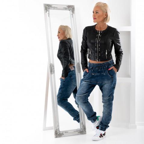 Dámské luxusní baggy jeans s prošíváním