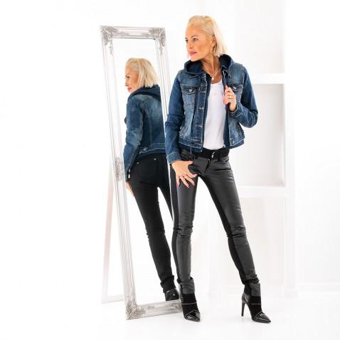 Dámská jeans bunda s kapucí