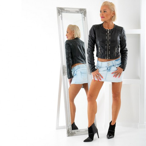 Dámská jeans sukně - světle modrá