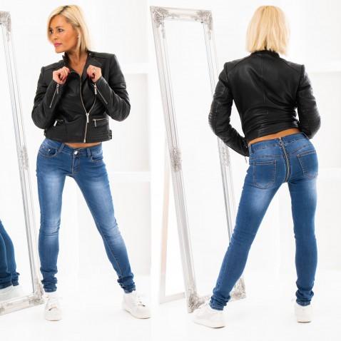 Jeans se zipovou aplikací
