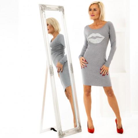 Úpletové šaty Grey kiss