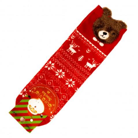Vánoční ponožky - zimní motiv