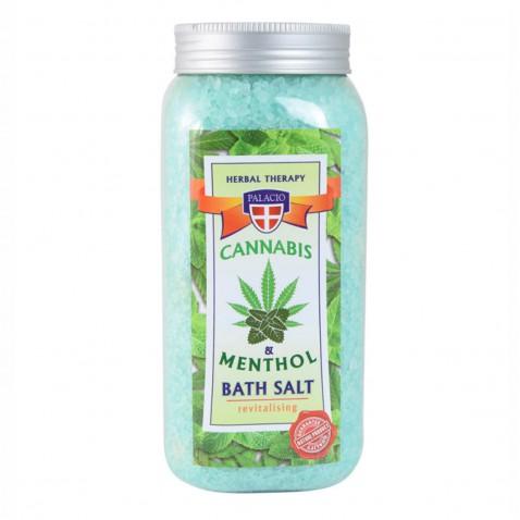 Konopná sůl do koupele s mentolem, 900 g