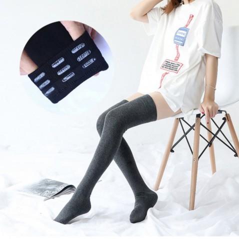 Dámské samodržící pletené nadkolenky