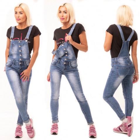 Jeans s laclem na knoflíčky