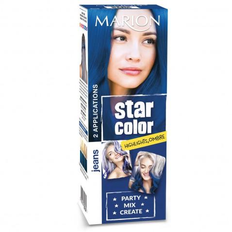 Marion Star Color smývatelná barva na vlasy Jeans, 2 x 35 ml