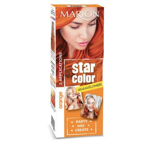 Marion Star Color smývatelná barva na vlasy Orange, 2 x 35 ml