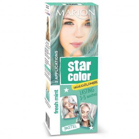 Marion Star Color smývatelná barva na vlasy Pastel Fresh Mint, 2 x 35 ml