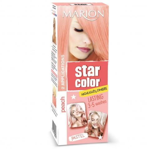 Marion Star Color smývatelná barva na vlasy Pastel Peach, 2 x 35 ml