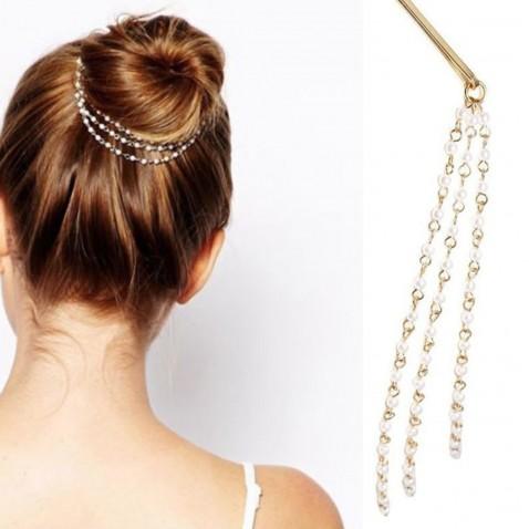 Perlové řetízky do vlasů