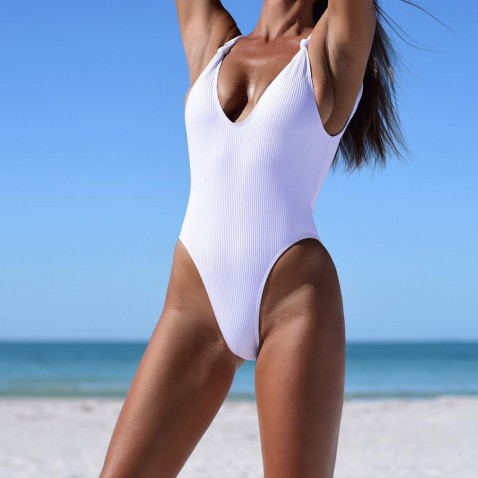 Dámské jednodílné plavky Briana - white